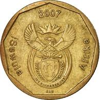 Monnaie, Afrique Du Sud, 50 Cents, 2007, Pretoria, TB+, Bronze Plated Steel - Afrique Du Sud