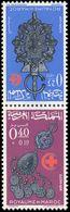 Morocco 1966 Red Cross Tete-beche Pair Unmounted Mint. - Marokko (1956-...)