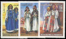 Morocco 1969 Traditional Womens Costumes Unmounted Mint. - Marokko (1956-...)
