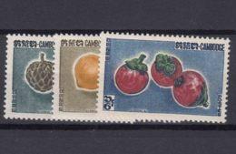 Cambodia 1962 Fruits Mi#140-142 Mint Never Hinged - Cambodja