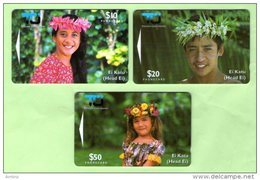Cook Islands - 1995 Second Issue - Ei Katu Set (3) - COK3/5 - Mint - Cook Islands