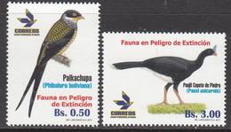 2017 Bolivia Birds Oiseaux Complete Set Of 2 MNH - Bolivië