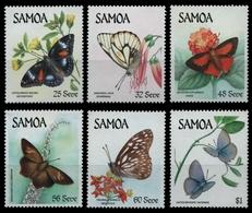 Samoa 1986 - Mi-Nr. 580-585 ** - MNH - Schmetterlinge / Butterflies - Samoa (Staat)