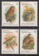 2018 Christmas Island Birds Oiseaux Art Painting Complete Set Of 4 MNH @ BELOW FACE VALUE - Christmaseiland