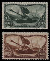 Russia / Sowjetunion 1946 - Mi-Nr. 1064-1065 ** - MNH - Panzertruppen - 1923-1991 UdSSR