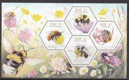2018 Ireland Bees Insects  Souvenir Sheet MNH @ Below Face Value - Ongebruikt