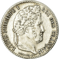 Monnaie, France, Louis-Philippe, 1/4 Franc, 1843, Rouen, TTB+, Argent - France