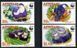 Aitutaki 2002 MiNr. 772 - 775 Wwf Birds Parrots 4v MNH** 7,00 € - W.W.F.