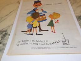 ANCIENNE PUBLICITE BADADI ET BADADOIT EAU MINERALE BADOIT  1961 - Affiches