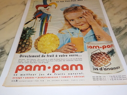 ANCIENNE PUBLICITE ANANAS JUS DE FRUIT EN BOITE PAM PAM 1961 - Affiches