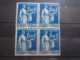 VEND BEAUX TIMBRES DE FRANCE N° 288 EN BLOC DE 4 , XX !!! - 1932-39 Peace