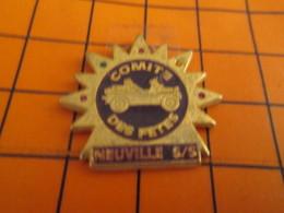 713H Pin's Pins / Beau Et Rare / THEME : VILLES / SOLEIL VIEUX TACOT COMITE DES FETES DE NEUVILLE S/S - Villes