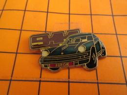 818B Pin's Pins / Beau Et Rare / THEME : AUTOMOBILES / PORSCHE 911VERT BOUTEILLE - Porsche
