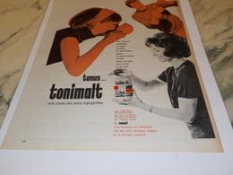 ANCIENNE PUBLICITE TONIMALT  LAIT MONT BLANC 1969 - Affiches