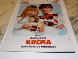 ANCIENNE PUBLICITE DELICIEUX BONBON  KREMA 1967 - Affiches