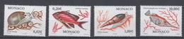 2002-MONACO.N°2327/30** POISSON ET COQUILLAGES - Unused Stamps