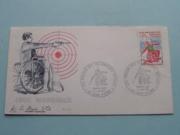 1970 > Jeux MONDIAUX Des Handicapes Physiques - France ( Stamp 27 Juin 1970 Saint-Etienne ) FDC N° 726 Burin D'Or ! - Handisport
