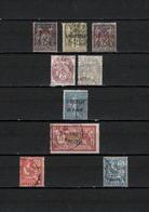 9 TIMBRES LEVANT OBLITERES DE 1885 à 1921     Cote : 24,80 € - Oblitérés