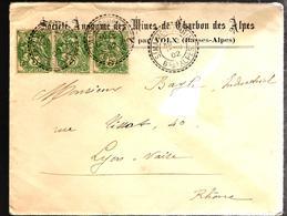 29459 - MINES DE CHARBON DES ALPES - Marcophilie (Lettres)