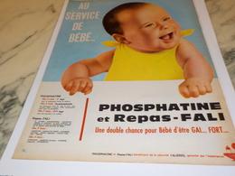 ANCIENNE PUBLICITE AU SERVICE DE BEBE PHOSPHATINE  1962 - Affiches