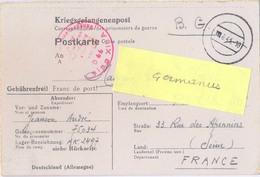GUERRE 39-45 COR.PRISONNIER DE GUERRE Français Stalag XIII A / D 66 Bad Sulzbach – Rédigé Le 23 MAI 1943 - Marcophilie (Lettres)