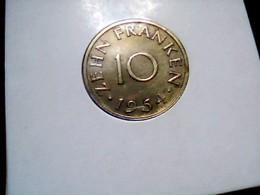 KM 1    10 Franken 1954 - Saarland