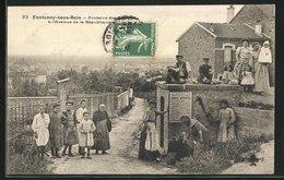 CPA Fontenay-sous-Bois, Fontaine Des Rosettes A L`Avenue De La Republique - Fontenay Sous Bois