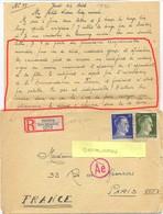 GUERRE 39-45 STO MUGGENTHALER SALCHING BEI STRAUBING TàD 27-8-43 + CENSURE AC Avec COURRIER - Marcophilie (Lettres)