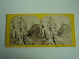 Pyramide Glace Glacier Des Bossons Chamonix  Photo Stereo Stereoscopique - Stereoscoop