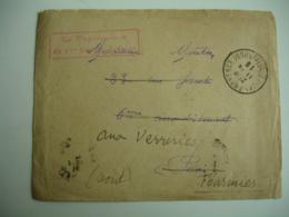 Aix En Provence 31 Eme Regiment De Dragons  Cachet Franchise Postale Guerre 14.18 - Postmark Collection (Covers)
