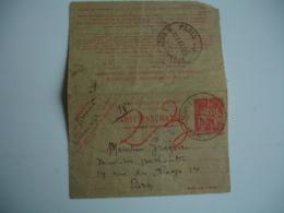 Carte Pneumatique Chaplain  1 F 50 Rouge Entier Postal - Postal Stamped Stationery