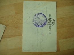 Carcassonne Depot Central Convalescents Cachet Franchise Postale Guerre 14.18 - Marcofilie (Brieven)