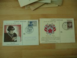 Lot 3 C M Carte Maximum 1945 Louis 11 Et 1944 Renouard De Villayer - Maximumkaarten