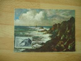 1946 Plogoff  Pointe Du Raz Cm Carte Maximum - 1940-49