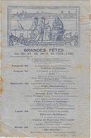 13 ARLES AFFICHE LEO LELEE GRANDES FETES JUIN 1925 ILLUSTRATEUR LEO LELEE ARLESIENNES MISTRAL RHONE MIREILLE PROVENCE - Manifesti
