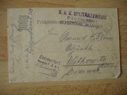 Krieg 14.18 Germany Deutschland  K U K Militarzensur  Batoraljaujhely  Censure Allemagne Franchise Militaire - Germany