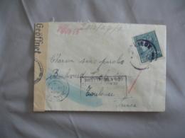 Lettre Ouverture Censure Recherche Encre Sympathique  De Liege A Toulouse Guerre 39.45 - Poststempel (Briefe)