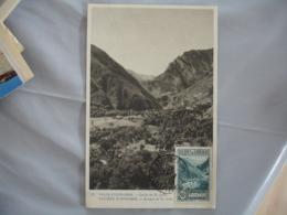 1942 Vallee Andorre 80 C C M Carte Maximim - Lettres & Documents