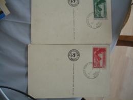 Yt 354.355 Victire Samothrace Sur Carte Du Louvre Obliteration Saint Maur Port Creteil - Postmark Collection (Covers)