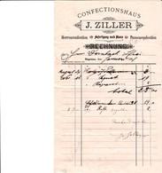 HAGENAU J ZILLER CONFECTIONSHAUS HERRENCONFECTION ANFERTIGUNG NACH MASS DAMENCONFECTION ANNEE1898 - France