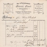 HAGENAU HEINRICH FLESCH BAU DECORATIONSMALER ANNAHME KIRCHEN WAND UND PLAFOND AUSFUHRUNG ALLER SCHRIFTEN ANNEE1898 - France