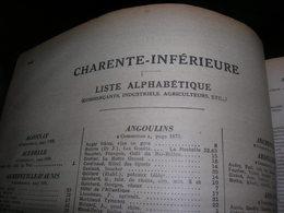 Pages Didot Bottin 1939 Charente Maritime Annuaire Du Commerce Ttes Les Communes Artisan Industriel Commercant Cafe Bar - Frankreich