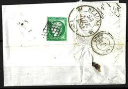 147 - FRANCE - 1851 - SMALL COVER - FORGERY, FAKE, FALSE, FALSCH - Briefmarken