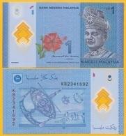 Malaysia 1 Ringgit P-51b ND (2011) UNC Polymer Banknote - Maleisië