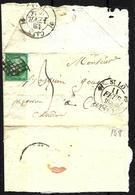 148 - FRANCE - 1851 - SMALL FOLDED COVER - FORGERY, FAKE, FALSE, FALSCH - Briefmarken
