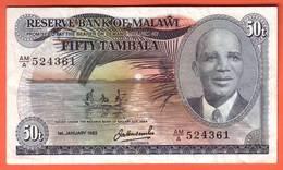 MALAWI - 50 Tambala Du 01 01 1983 Pick 13e - Malawi