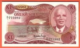 MALAWI - 1 Kwacha Du 01 03 1986  Pick 19a - Malawi