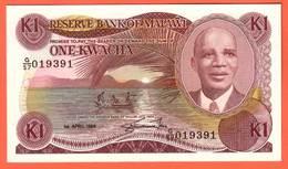 MALAWI - 1 Kwacha Du 01 04 1988  Pick 19b - Malawi