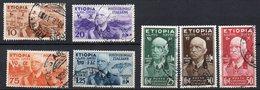 1936 Etiopia Vittorio Emanuele III Serie Completa Timbrata Used - Aethiopien
