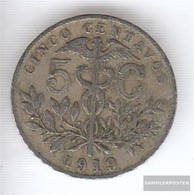 Bolivia 173 1919 Very Fine Copper-Nickel 1919 5 Centavos Crest - Bolivie